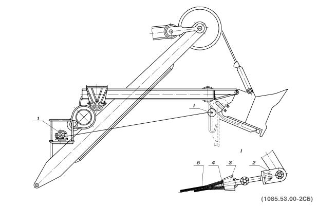 Механизм открывания днища ковша